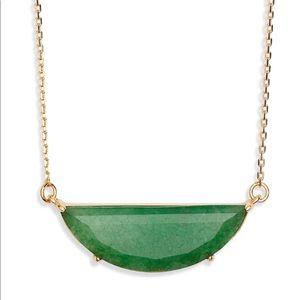Kate Spade Half Moon Scalloped Pendant Necklace